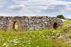 5th Roman Legion Castra in Romania. Archaeological site of Potaissa Castra of 5th Roman Legion at Turda, Romania royalty free stock photo