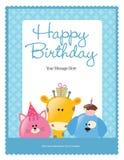 5x11 шаблон плаката рогульки 8 дней рождения Стоковые Фото
