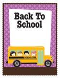 5x11 8公共汽车传单孩子学校w 向量例证
