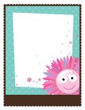5x11 8花卉传单海报模板 免版税图库摄影