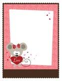 5x11 8 Валентайн шаблона рогульки s дня Стоковая Фотография