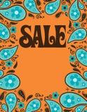 5x11 8 sprzedaży plakatowi lata siedemdziesiąte łuskają stylowego szablon Fotografia Royalty Free