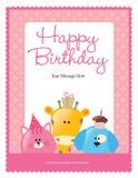 5x11 8 urodzin ulotki plakata szablon Zdjęcie Royalty Free