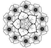 5x5 bloemen Glyph Stock Fotografie