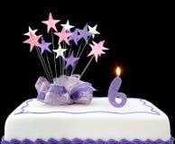 6ème gâteau Image libre de droits
