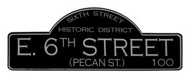 6ème rue le Texas d'Austin Image libre de droits