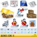 6个企业图标 向量例证