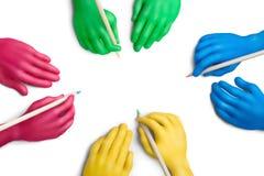 6个协议颜色 库存图片
