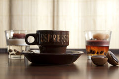 6个咖啡杯 图库摄影