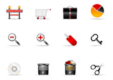 6个图标互联网melo集合网站 免版税库存照片