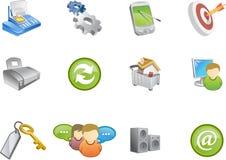 6个图标系列varico万维网 库存图片