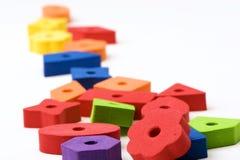 6个多彩多姿的玩具 免版税图库摄影