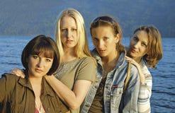 6个女孩 免版税图库摄影
