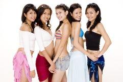 6个宝贝海滩 图库摄影