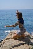 6个岩石妇女年轻人 免版税库存照片