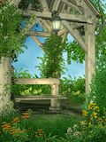 6个庭院春天 图库摄影