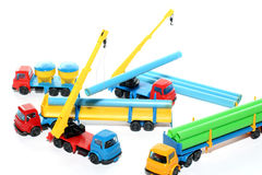 6个建筑玩具工作 免版税库存图片