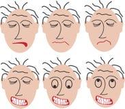 6个恼怒的表面 向量例证