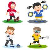 6个收集孩子体育运动 库存照片