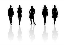6个方式剪影妇女 免版税库存图片