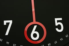 6个时钟o时间 库存图片