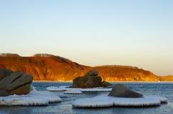 6个海湾横向vladimir冬天 免版税库存照片