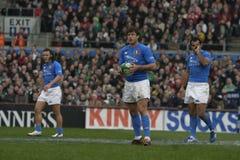 6个爱尔兰意大利国家橄榄球v 免版税图库摄影