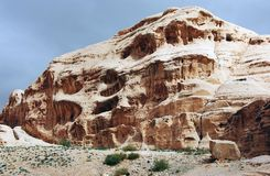 6个片段乔丹petra雕刻石头 库存照片