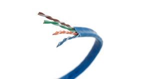 6个电缆类别弯曲的网络 免版税库存图片
