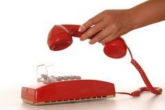 6个电话红色 库存图片