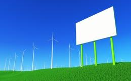 6个能源绿色 免版税图库摄影