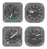 6个航空器测量仪 库存照片