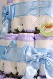 6个蛋糕尿布 库存图片