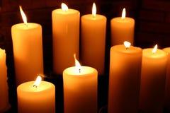 6个蜡烛 免版税库存图片