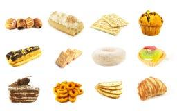 6个被烘烤的货物系列 免版税库存照片