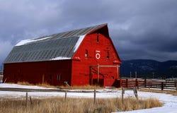 6个谷仓红色 图库摄影