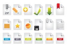 6个附加颜色图标包装集 免版税库存照片