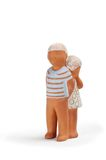 6个黏土玩具 免版税库存照片