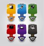 6副横幅收集颜色elem销售额集 库存例证