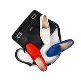 6双袋子鞋子 免版税图库摄影