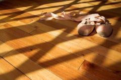 6双pointe鞋子 图库摄影
