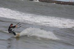 6只风筝海浪 库存照片