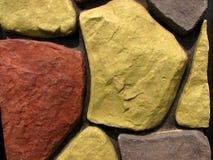 6块砖模式石墙 免版税库存照片