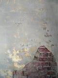 6块砖老墙壁 免版税库存照片