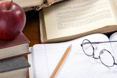 6家庭作业 免版税库存照片