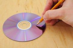 6对文字的光盘 图库摄影