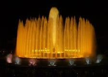 6巴塞罗那montjuic喷泉的魔术 库存照片