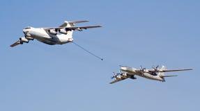 6支空军周年纪念俄语 免版税库存图片