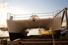 6条小船海角 库存照片