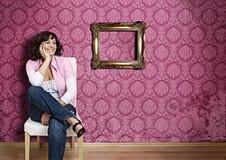 6桃红色墙壁 免版税图库摄影